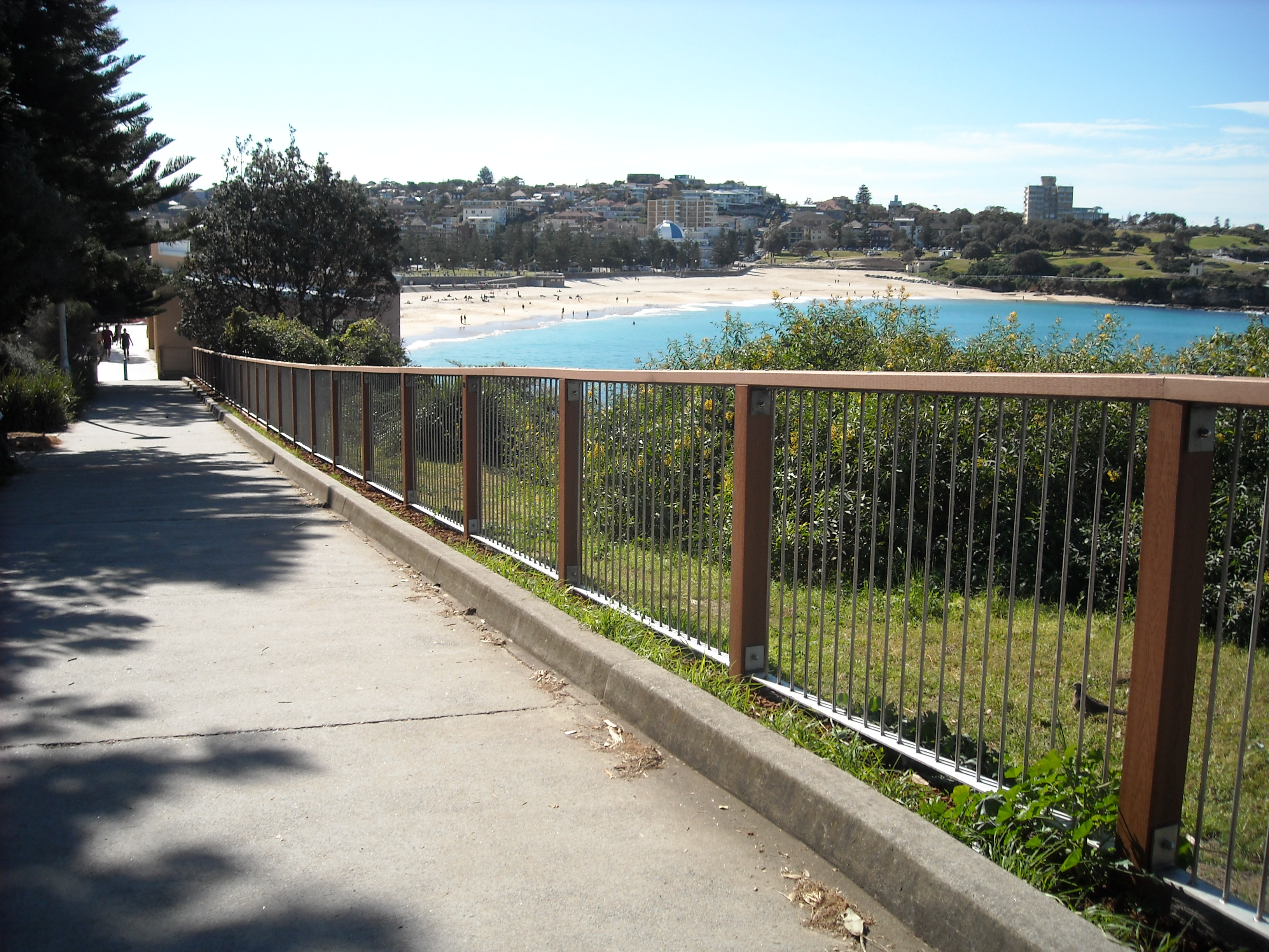 RANDWICK CITY COUNCIL Coogee Beach South End RPW Post & Rail with Stainless Steel Panels