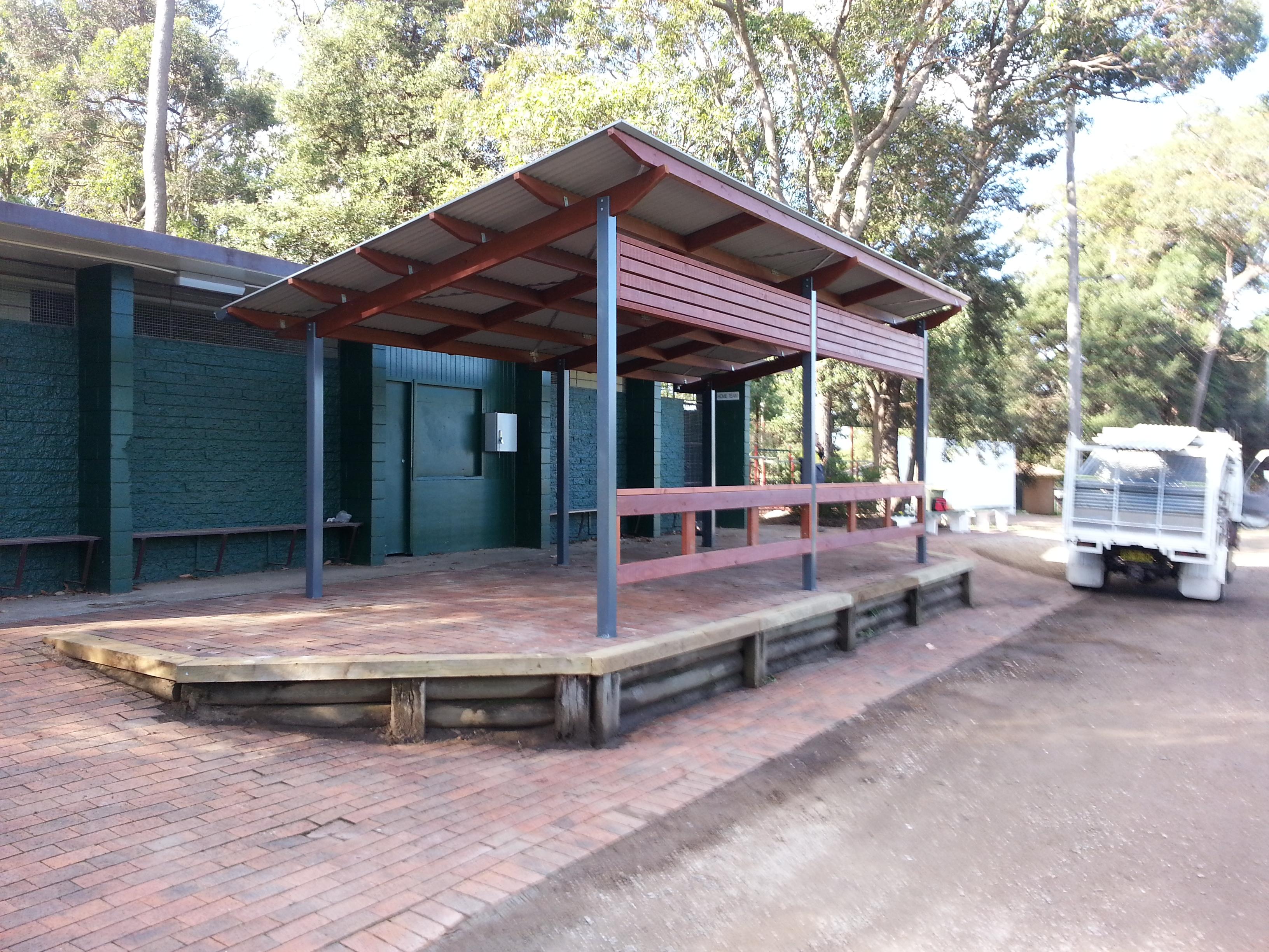 Skillion roof shelters scully outdoor designs australia skillion shelter ted horwood reserve baanklon Choice Image